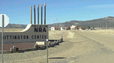 An NRA shooting range outside Raton. Apparently, one could camp out here, if one were so inclined
