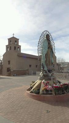 A statue of the Guadalupe image we all know and love (it also showed up on the wall of the ashram in Española